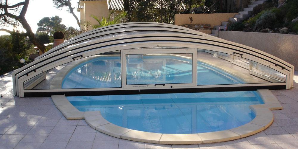 Abri de piscine bas Génie