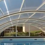 Abri de piscine semi-haut Sahri
