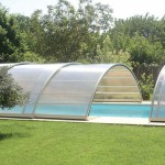 Abris de piscine semi-haut ouverture